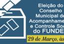 Hoje acontece a Eleição para o CACS FUNDEB