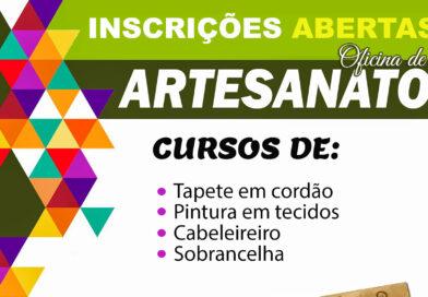 CRAS abre inscrições para cursos de artesanato